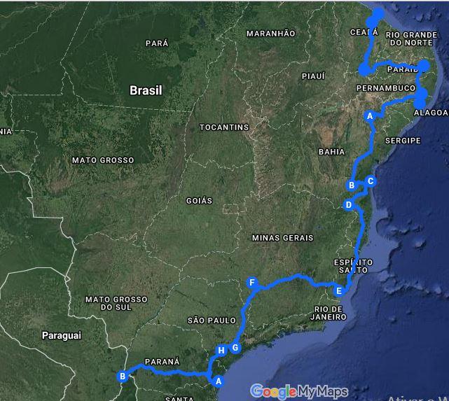 Mapa Expedição